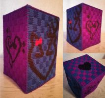 Plastic Canvas: Tissue Box Hearts by NerdyNova