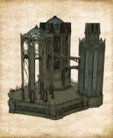 RavenWood Castle Stock by Just-A-Little-Knotty