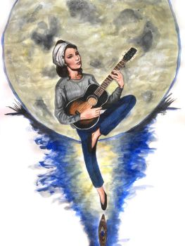Audrey Hepburn Moon River - Breakfast at Tiffany's by smjblessing