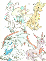 Dragon Adoptables - 1 by Yorialu