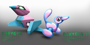 Porygon and Porygon2 by The-Miragedtheory