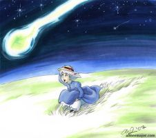 Sophie chases a falling star by aimeekitty