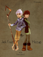 Jack Frost and Hiccup by Slypht