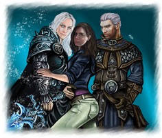 COMMISSION - Arthas, Khadgar and you by LadyMintLeaf