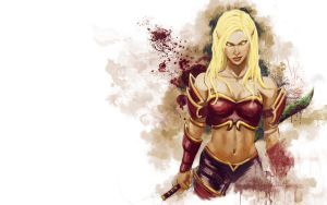 Blood Elf Warrior by brianlaborada