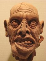 Zombie Puppet Head for Grim Mountain Film by st8exprs