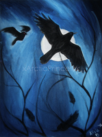 Crows Under Moonlight by xArcticPrincessx