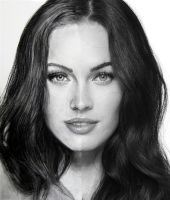 photo+drawing Megan Fox by Azalea2010