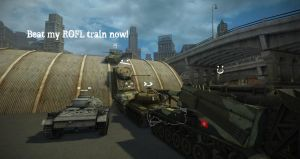 World of Tanks: ROFL Train by purpledragon104