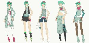 Lafritia Outfits 1 by MidnightSukioma