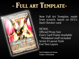 Full Art Card Template by grezar