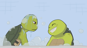 Don x Mikey - Bath time fun by Neos-mies