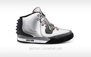 Nike Air Yeezy 2 'White Cement' by BBoyKai91
