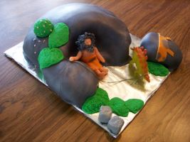Caveman Cake by annasaphiree