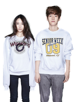 Krystal [f(x)] and Baekhyun (EXO) png [render] by Sellscarol