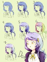 Hair tutorial (Easy) by DewberryART