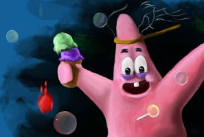 Patrick Star ! by TryingDrawingG
