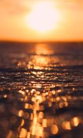 Sunset Lake Ice Bokeh by KeswickPinhead