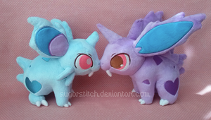 Pokemon: Nidoran Pair Plush