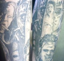 horror leg sleeve by chrisxart