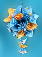 Shabby Chic  Flower Pomander by PaperSquare