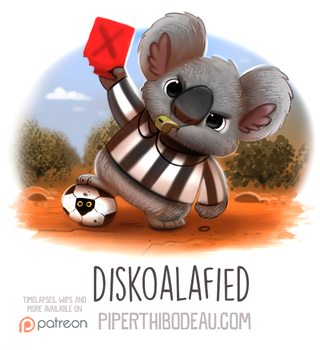 Daily Paint 1572. Diskoalafied by Cryptid-Creations