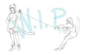 The tug of war! by NoirDamiselle