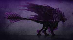 Black magic dragon - adoptable by TheBlack-Arrow