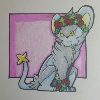 Luxray with a Flower Crown by StarTheef