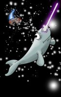 Narwhal IN SPACE by KiubezUndermann