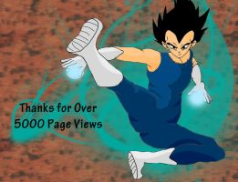 Thanks for Over 5000 pageviews by DarkAngelxVegeta