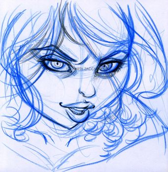 Edith sketch face by AtramArt