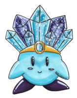 Ice Kirby by VernFeathers