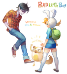 Mashall Lee and Fionna by yangdeer