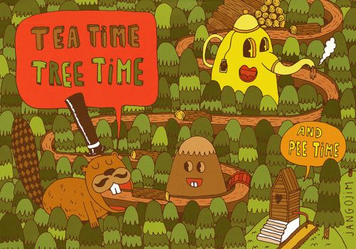Tea Time Tree Time by laresistance