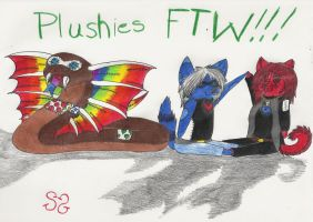 Plushies FTW!!! by Zs99