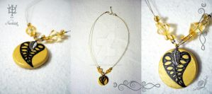 Golden leaf by Tuile-jewellery