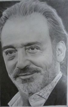 Luca Ward portrait signed !!!!! by Macca4ever