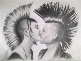 AMOR PUNK by H3cT0r-Dibujos