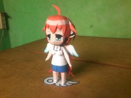 Chibi Ikaros Figurine Paper Model: 3/4 view by MarcGo26