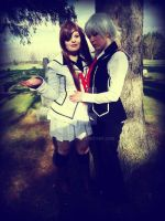 Yuki and Zero : in the cemetery by BunnyRue