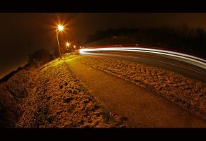 Fisheye Light Trails by danUK86