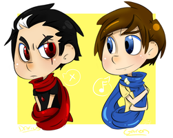 Garen and Darius: Scarfs by ButtMantis