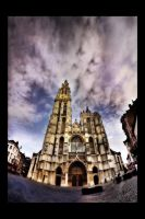 Antwerp Cathedral II by digitaldreamz666