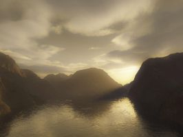 Sunset 1 - Sepia Version by WraithRealm