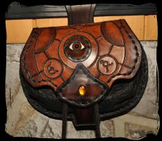 Escarcelle Alchemist 2  leather belt pouch by Lagueuse
