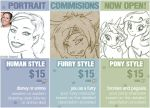 PORTRAIT COMMISSIONS ARE NOW OPEN! by stardust-art