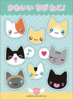 Cute little Kitties stickers by analage