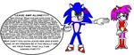 Sonic disapproves of Amy hate... by scifiguy9000