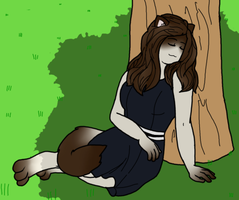 Kimika the sleeping kitty cat by MissSnowBell